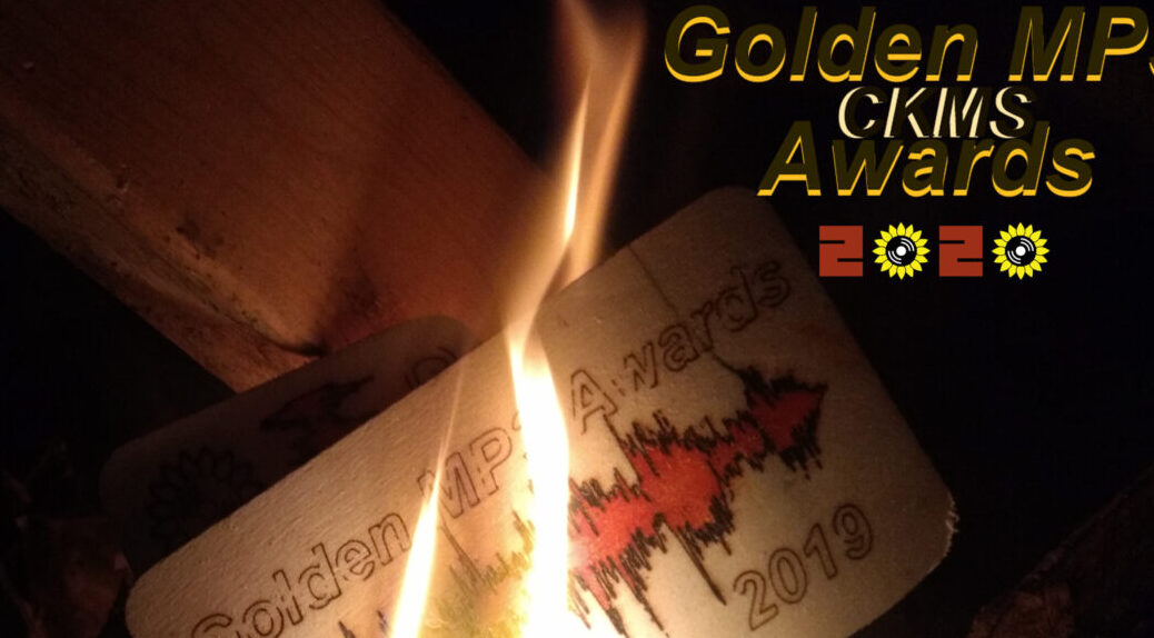 CKMS Golden MP3 Awards 2020 (image of a 2019 award in flames)
