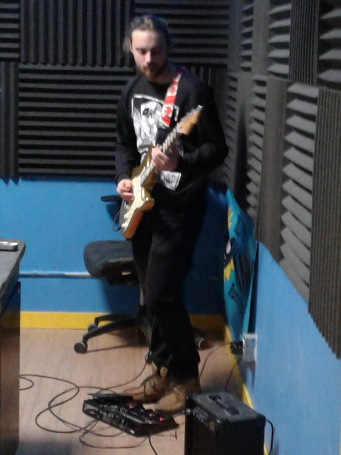 Diego Occhicone in the CKMS Studio