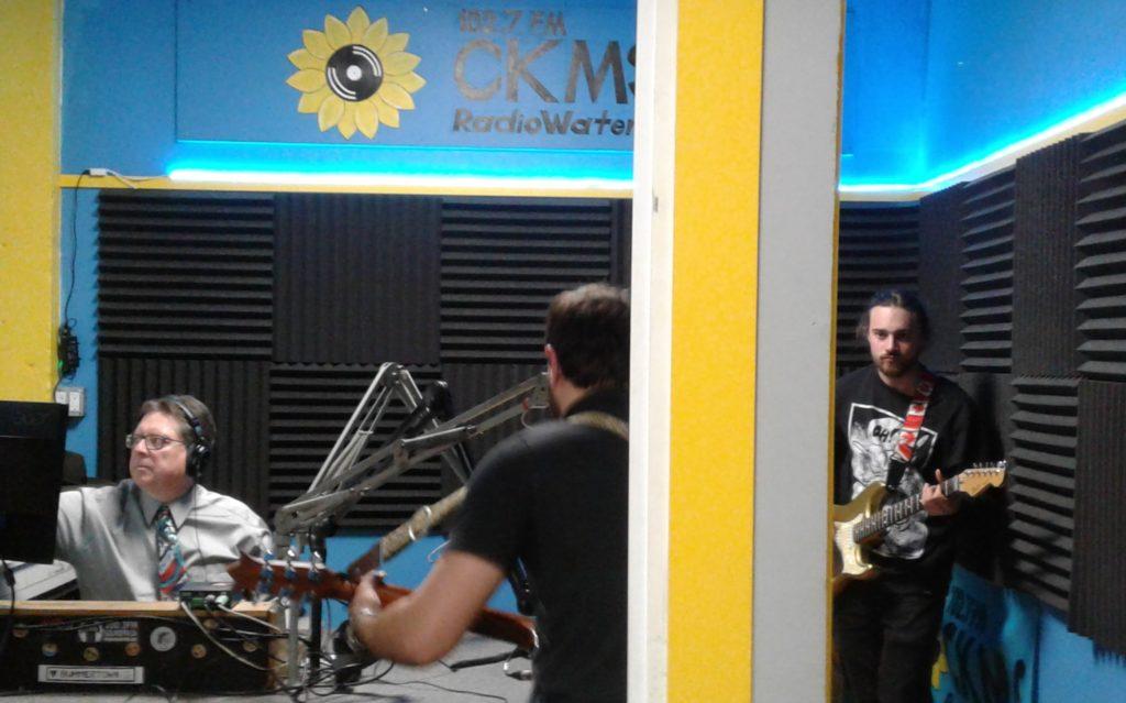Bob Jonkman, Diego Occhicone, and Alessio Occhicone in the CKMS Studio