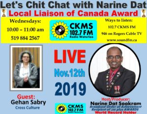 Chit Chat poster with  Gehan Sabry