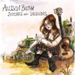 Allison Brown | Stitches and Incisions (illustration of a woman sitting on grass with a guitar)