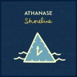 Athanase | Shoreline (a light blue triangle with  hands of a clock in waves on a dark blue background)