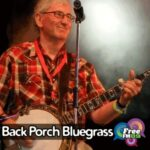 Back Porch Bluegrass (Paul Trenwith playing banjo, FM98 logo in bottom right corner)