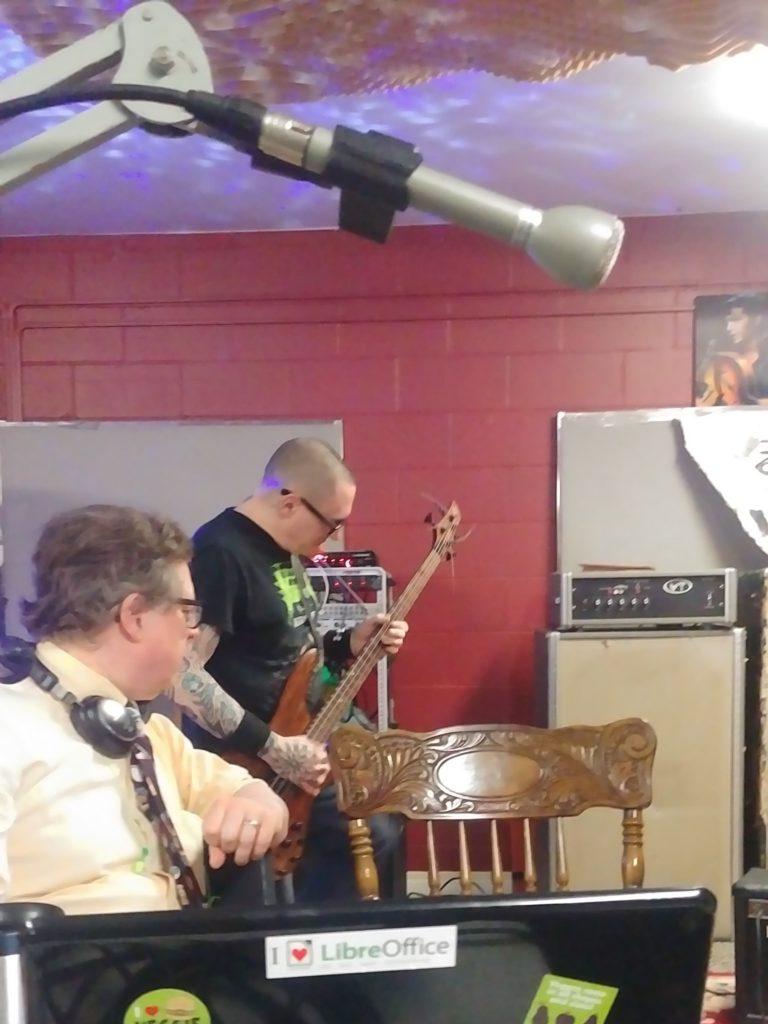 Bob Jonkman watches Kevin Paisley of Parallax Error on Bass