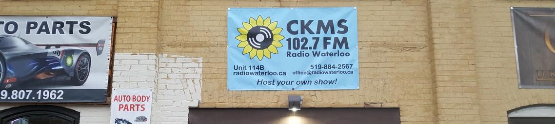 CKMS 102.7 FM Radio Waterloo | Unit 114B | 519-884-2567 | radiowaterloo.ca | office@radiowaterloo.ca | Host your own show!