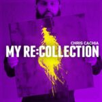 Chris Cachia | My Re:Collection (purple image of Chris Cachia holding a purple and yellow painting)