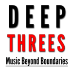 Deep Threes | Music Beyond Boundaries (black and red text)
