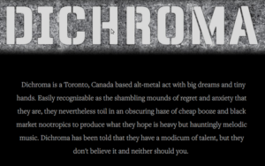 Dichroma (wordmark and text from their website)