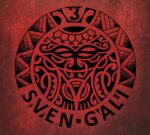 3 | Sven Gali (very stylized woodcut illustration of a face, suitable for a tattoo)