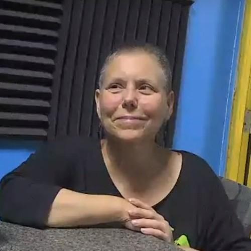 Mo Markham in the studio