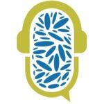 Speech bubble wearing headphones full of grain
