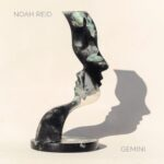 Gemini (sculpture casting a shadow of a two face profiles)