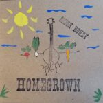 Onion Honey | Homegrown (illusration of a banjo with roots amongst vegetables)