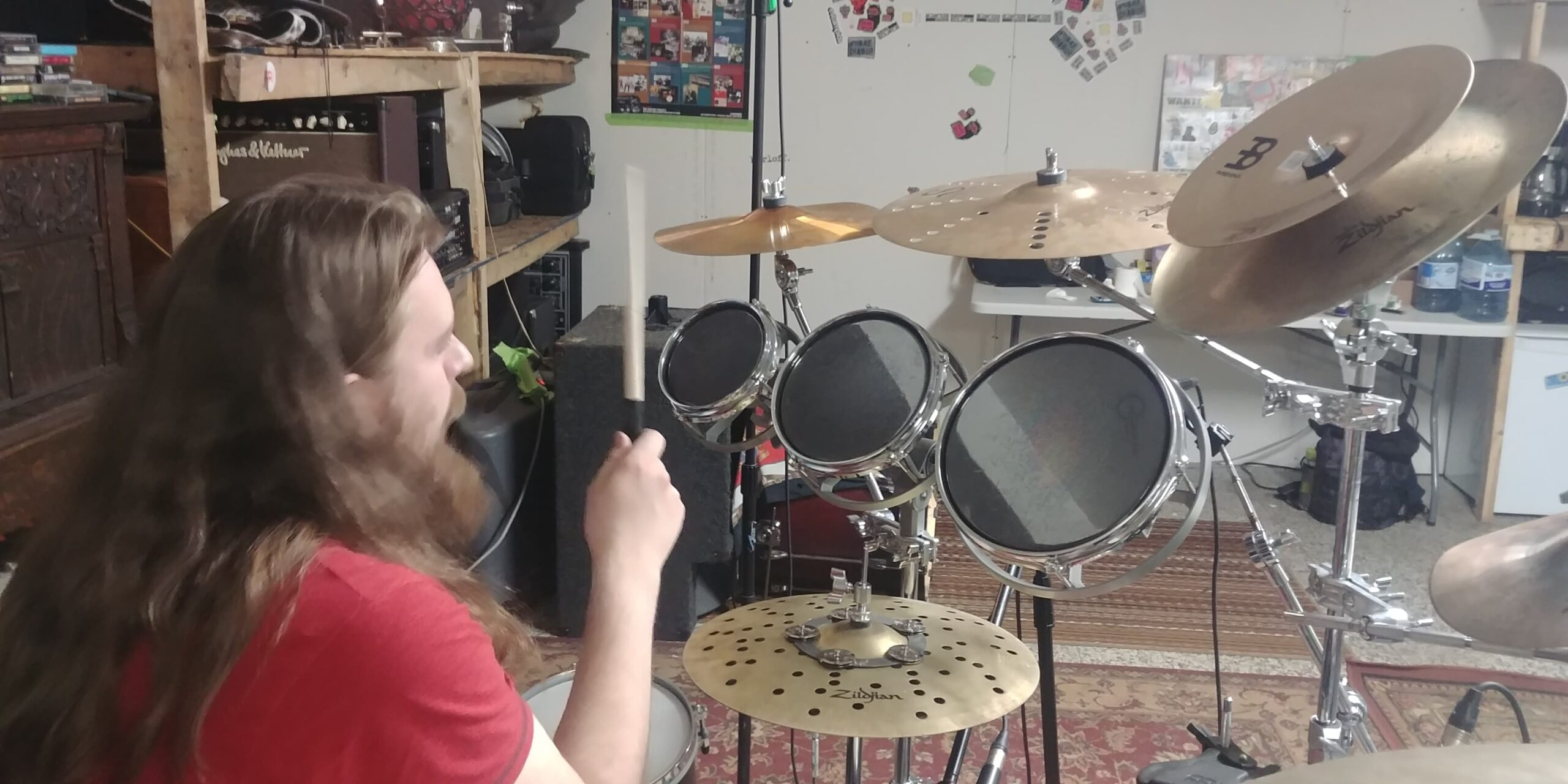 Sam Hill of Parallax Error on the Rototoms