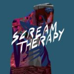 Scream Therapy (stylized illustration of  something with a mouth screaming)