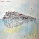 Yestermind | Shy Harry (illustration of an island, reflected in the water by written words)