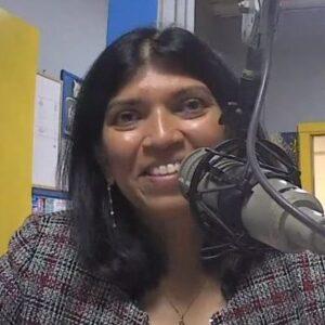 Surekha Shenoy at the microphone