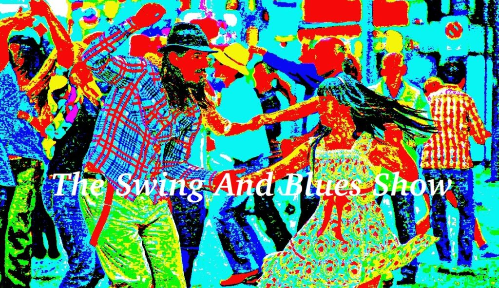 The Swing And Blues Show (colour saturated image of people dancing in the street)