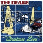 The Dears | Christmas Love (illustration of a  city scene covered in snow, people hugging on the sidewalk, a snowplow in the road)