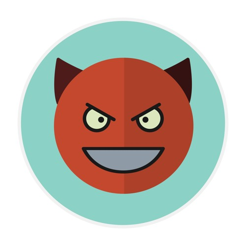 (no text, graphic of an angry looking face)