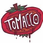 "Album cover for Tomacco (graphical illustration of a tomato with the words ""Tomacco"" inside)"
