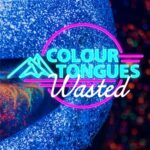 Colour Tongues | Wasted (neon pastel lettering on a blue planet)