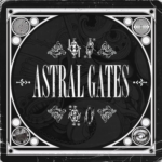 Astral Gates (text in a circle with psychedelic illustrations surrounding)