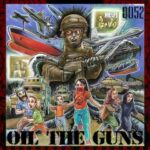 Q052 | Oil The Guns (illustrations of military materiel and children running)